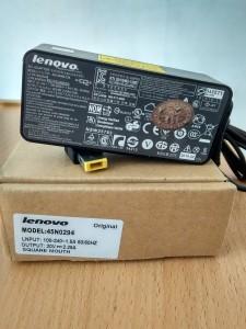 Jual charger adaptor lenovo 20V 2.25A original square mouth colokan kotak yogyakarta