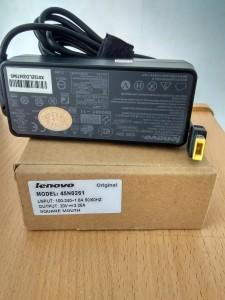 Jual charger adaptor lenovo 20V 3.25A original square mouth colokan kotak yogyakarta