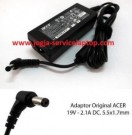 Jual Adaptor Charger ACER One 14 Z1401 Z1402 – 19V 2.1A Original